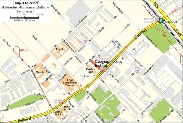 Geographisches Institut - Lageplan - Stand 06.03.2012