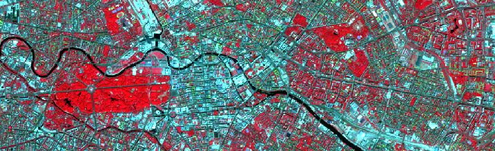 Satellite image from Berlin center by Sentinel-2